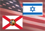 USA, Florida, and Israel flags